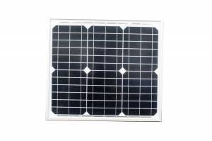 30 Watt Monocrystalline Solar Panel with Mounting Kit