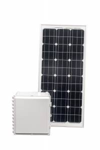 80 Amp Hour 16x14x8 Solar Solution with 90 W Solar Panel